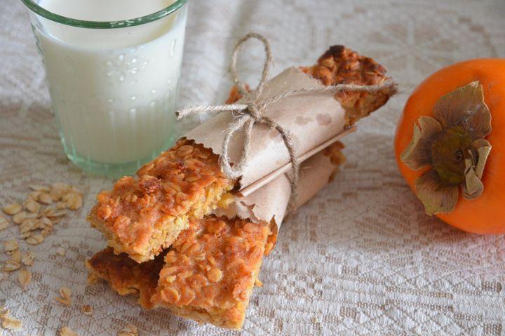 Овсяное печенье с хурмой