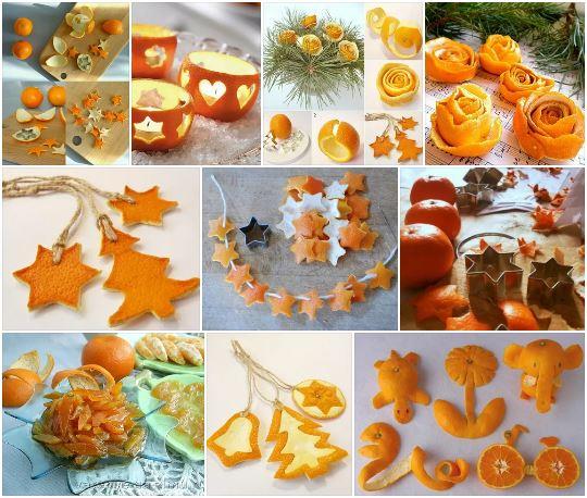 Декоративные изделия из мандариновых корок