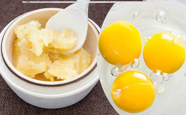 Маска из засахаренного меда, алоэ и яйца