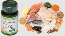 в каких продуктах содержится L аргинин