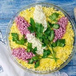 Диетический салат Мимоза