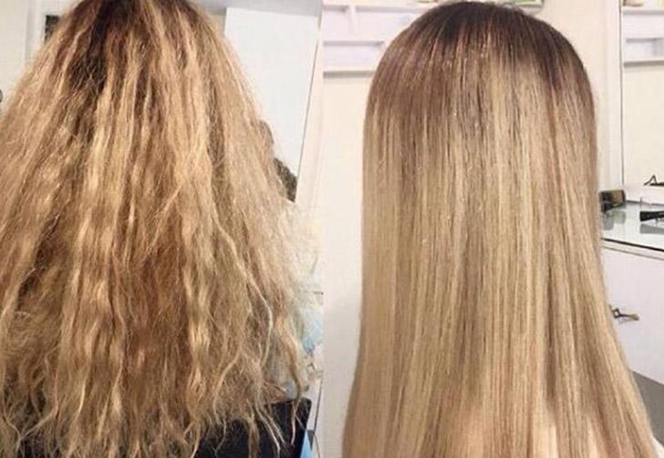 Вьющиеся волосы выпрямление