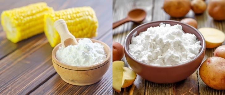 Сходства картофельного и кукурузного крахмала