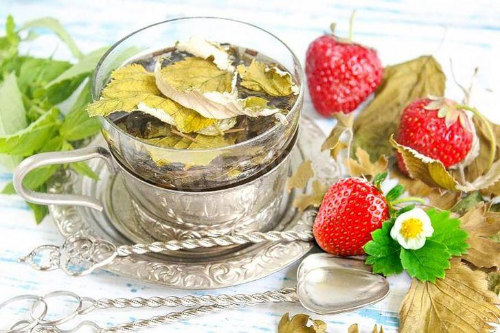 Чай из листьев клубники