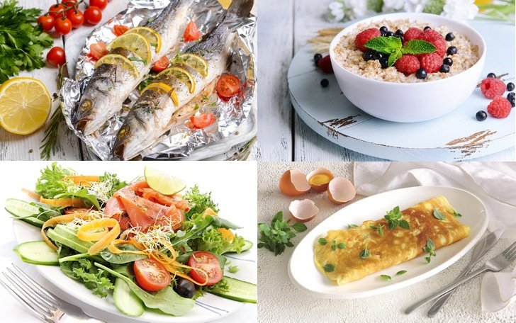 Примеры правильного рациона питания