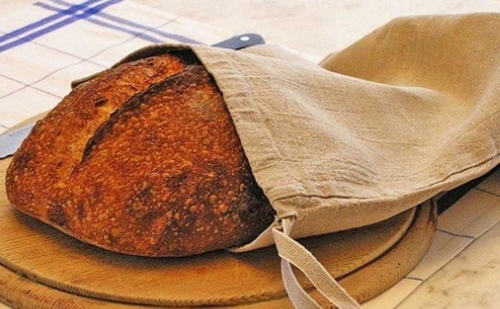 Тканевые мешочки - идеальный вариант для хранения хлеба