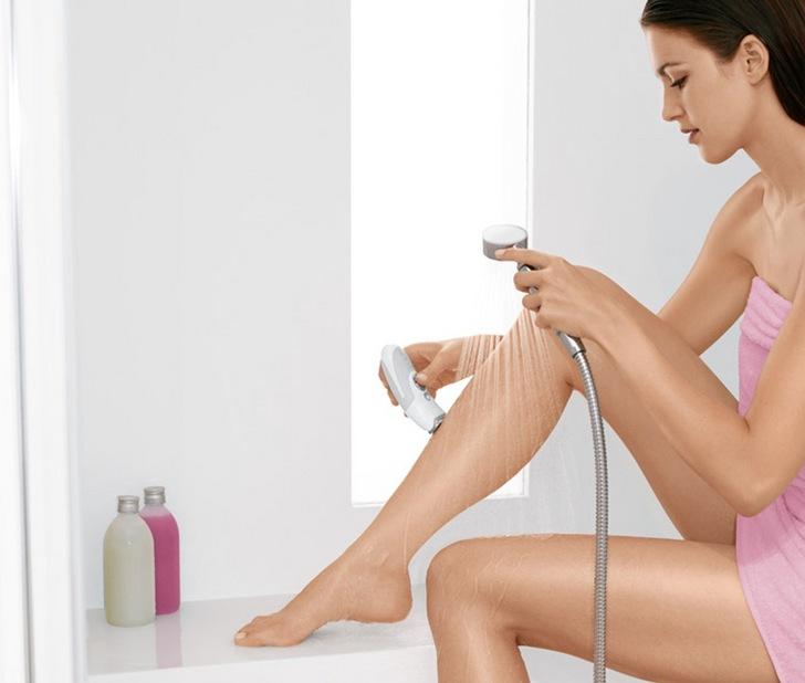 Распаривание кожи водой
