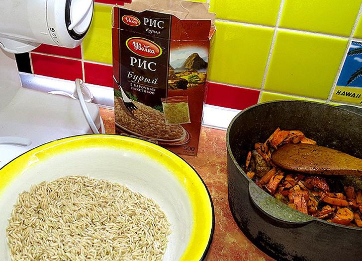 Коричневый рис в духовке