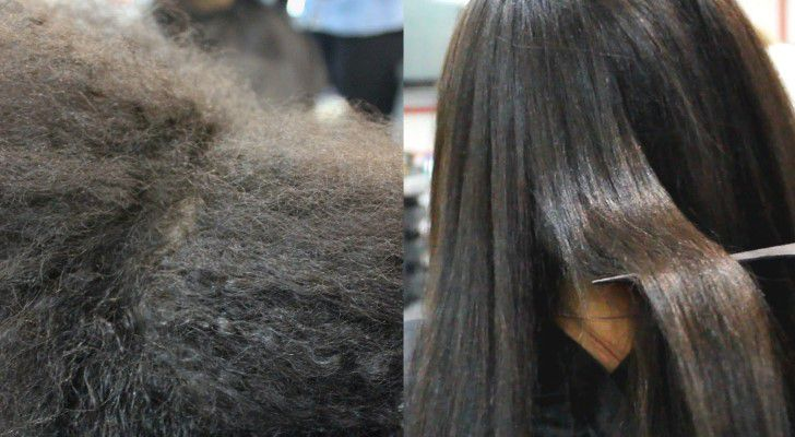 Био выпрямление кудрявых волос