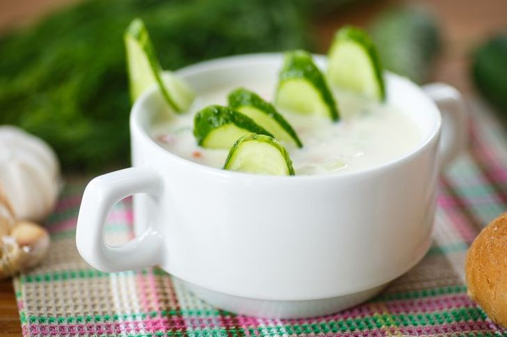 Кефирно-огуречный суп