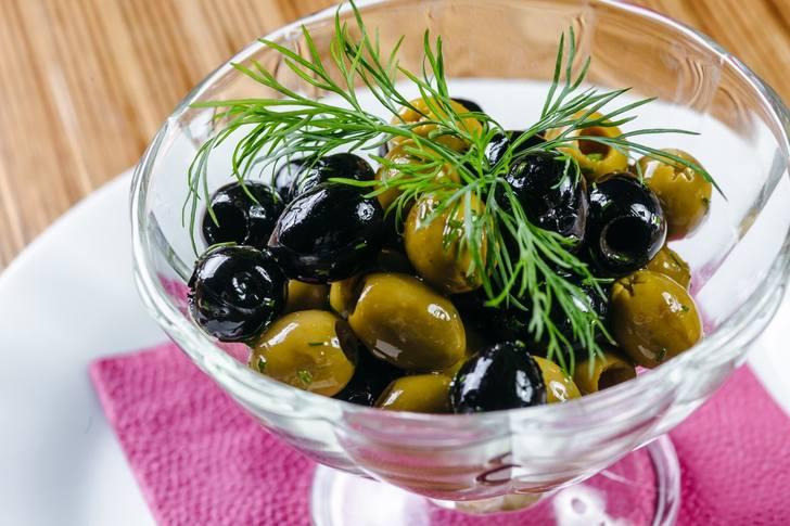 Использование в кулинарии плодов оливы