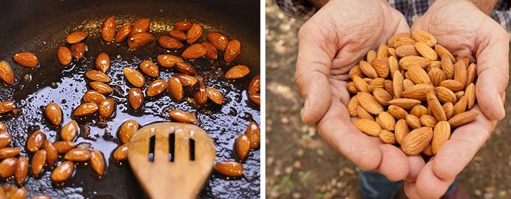 Отличие жареных орехов от сырых