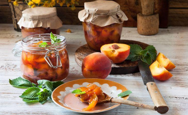 Персиковое варенье с яблочным пектином