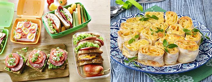 Бутерброды и рулеты из лаваша