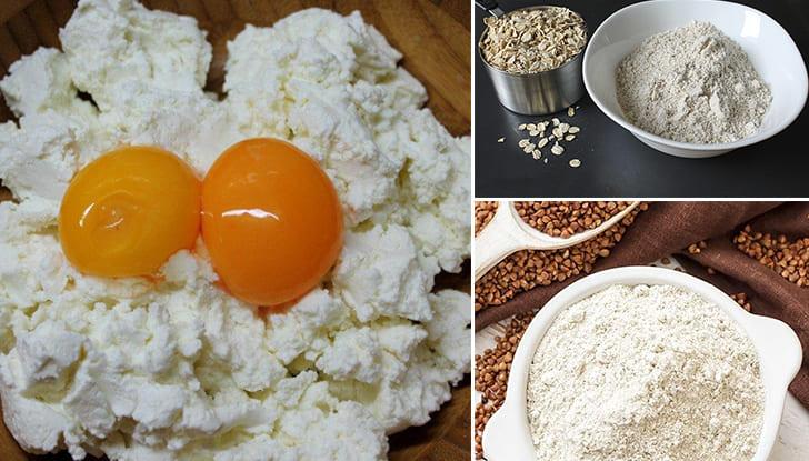 Ингредиенты для диетических сырников