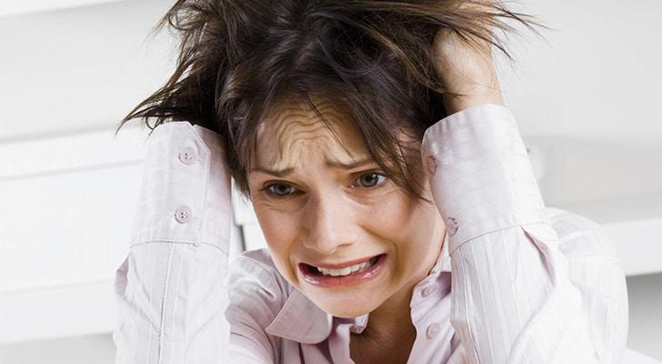 Седые волосы и стресс