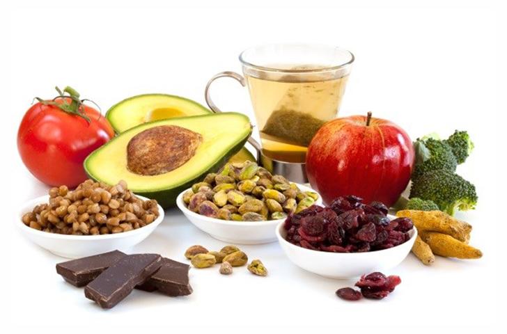 Продукты с антиоксидантами