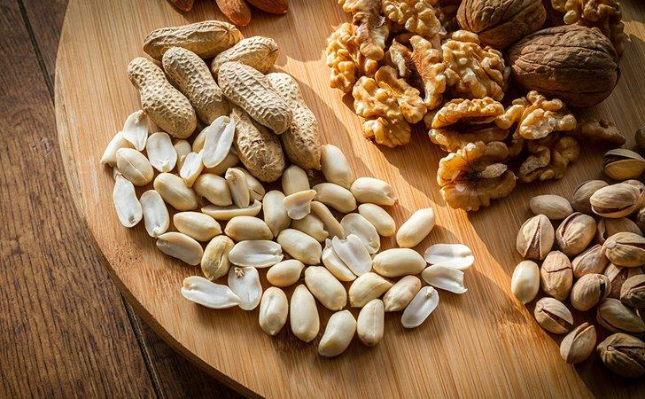 Орехи и семечки не содержат рафинированных углеводов