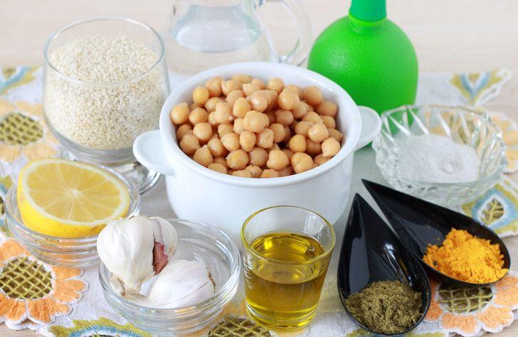 Ингредииенты для хумуса