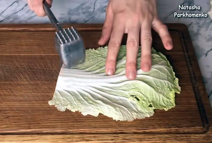 Подготовить капустные листы