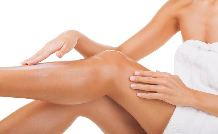 Обработка кожи после депиляции лосьоном