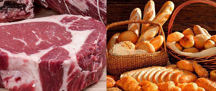 Мясо и хлебобулочные изделия