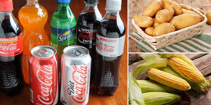Напитки, крахмалистые овощи