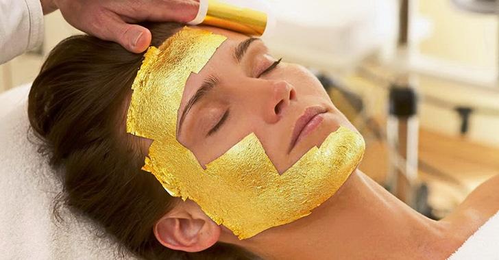 Золотая маска для лица полезные свойства